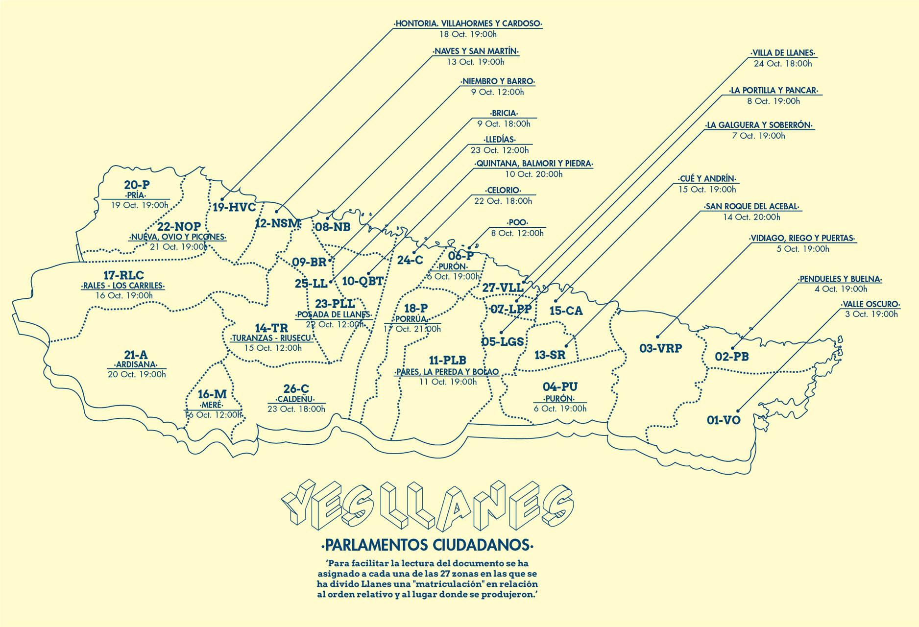 Mapa 27 Parlamentos Ciudadanos Llanes_YesLlanes_Zuloark