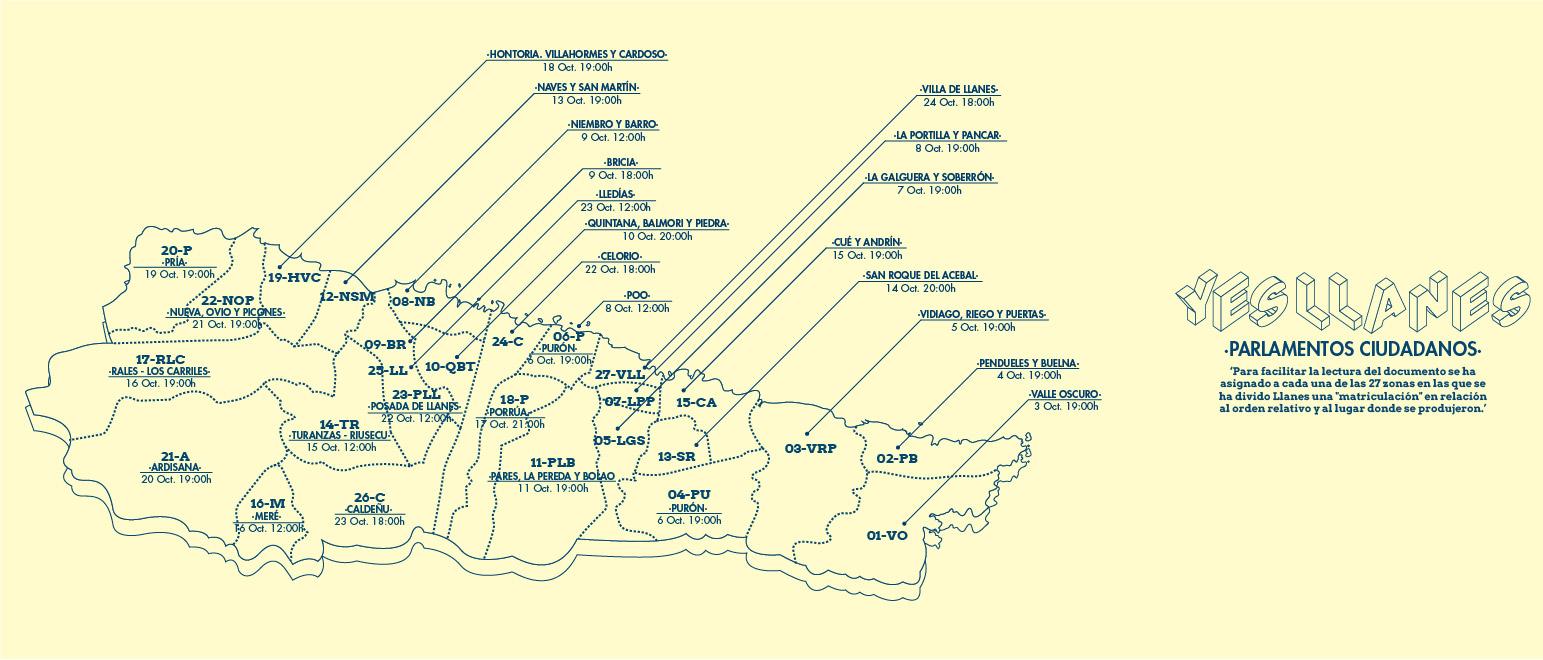 Mapa_27 Parlamentos Ciudadanos Llanes_YesLlanes_Zuloark